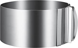 U-Taste Adjustable Stainless Steel Mousse Cake Ring, Pastry Mold Ring for Baking (Round)