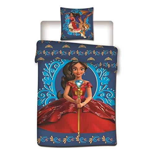 Disney - Juego de cama (funda nórdica y funda de cojín, reversible, cama individual), diseño de Elena de Avalor