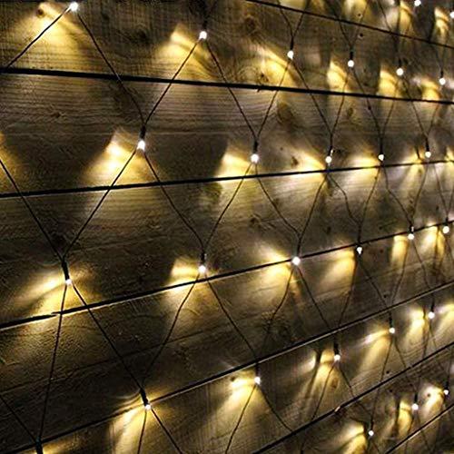 FEFCK Multi Action Lichternetz 3,6 X 1,5 M 360leds, Mesh Baum Im Weihnachtsfee Lichterketten, Fernbedienung Timing 8 Modi Adjustment Warm White