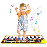 ONME Piano Mat, Soft Baby Early Education Portable Music Piano Keyboard Carpet, Safe