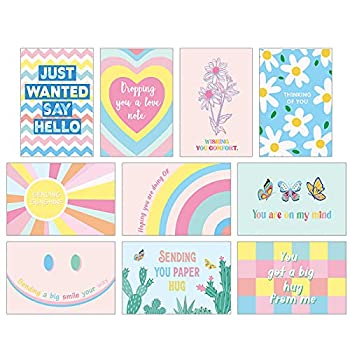30 Pieces Thinking of You Greeting Cards with Envelopes Miss You Thinking of You Note Card Assortment,4x6Inch Blank Inside Just Because Cards and KindnessCard Bulk for All Occasions