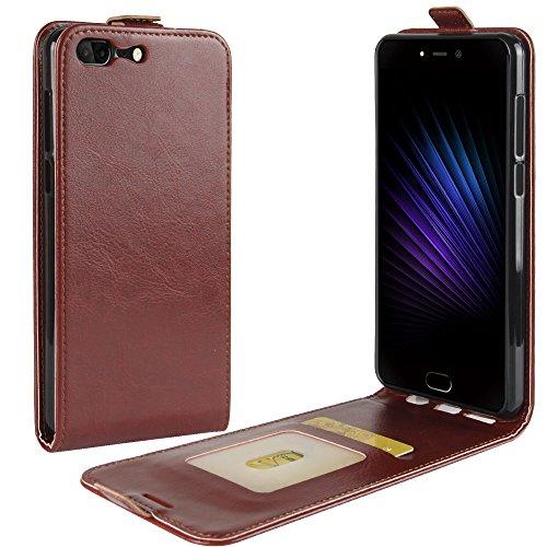 Litao-Case CN Hülle für Leagoo T5 hülle Flip Leder + TPU Silikon Fixierh Schutzhülle Case 3