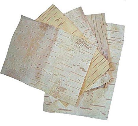 """Bhojpatra BARK Sheets Betula Utilis Himalayan Birch - 2 Sheets (Size - 6"""" x 9"""" Inch Approx)"""