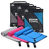 CFX Microfibre Towel Set, Perfect Travel & Sports &Beach Towel. Fast Drying - Super Absorbent - Ultra Compact. Suitable for Camping, Backpacking,Gym, Beach, Swimming,Yoga