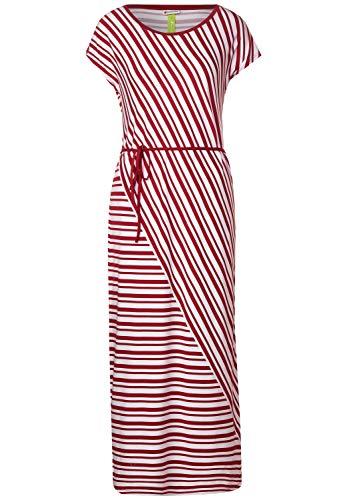 Street One Damen 142706 Jersey Streifenkleid Kleid, Sweet Wine, 44