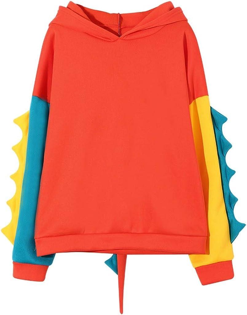 Aniwood Sweatshirts for Women, Women's Teen Girls Cartoon Print Long Sleeve Hoodies Pullover Casual Jumper Hooded Tops