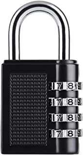 Combination Padlock, 4 Digit Combination Lock for Gym & Sports Lockers, School, Fence, Toolbox, Case, Hasp Storag, Keyless...