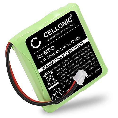 CELLONIC® Akku kompatibel mit AVM Fritz Fon MT-D, kompatibel mit Audioline Slim DECT 500 502 580 582, kompatibel mit Telekom Sinus 201 / A201 (600mAh) 5M702BMX,GP0827 Fritz!Fon Ersatzakku Batterie