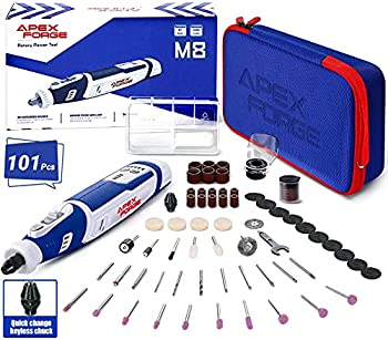 Apexforge M8 8V 2.0 Amp Cordless Rotary Tool with 101 Accessories
