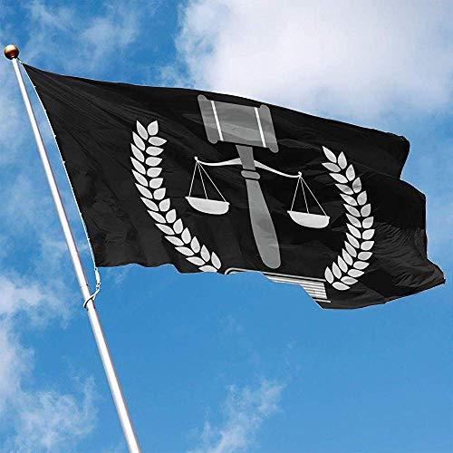 Wallxxj Garden Flag Bandera De Jardín Juez Martillo