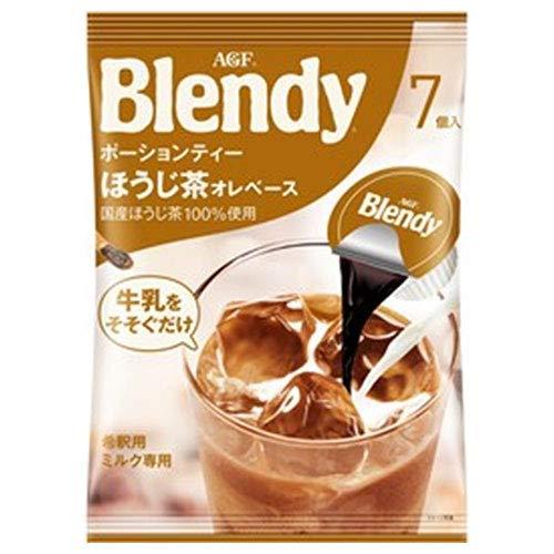 AGF ブレンディ ポーションティー ほうじ茶オレベース (18g×7個)×12袋入×(2ケース)