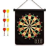 ODODDE Roll-up Dartspiel - 15-Zoll übergroße Reversible magnetische Darts mit 6 bunten Dart Zielen...