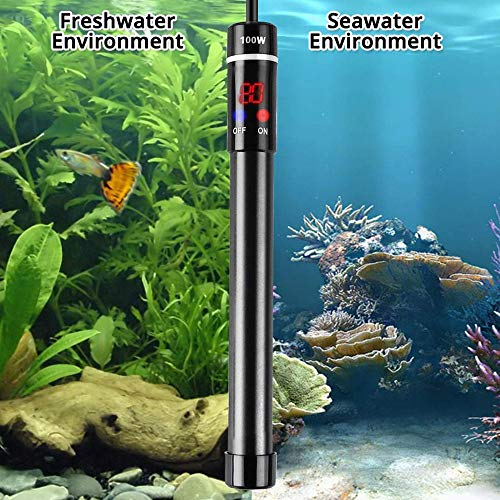 Xiaolizi Fish Tank dompelwatertemperatuur digitaal display verwarming titaanlegering aquarium submersible verwarmingselement EU/US/UK/AU-stekker