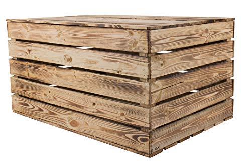 Vintage Möbel 24 GmbH 1x Traumhaft rustikale Holztruhe (85 x 55 x 46 cm, geflammt) - 3