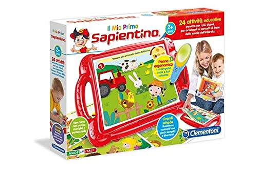 Clementoni - 11984 - Sapientino - Il Mio Primo Sapientino, banchetto con schede attività e penna interattiva, gioco educativo 2 anni, elettronico parlante - Made in Italy
