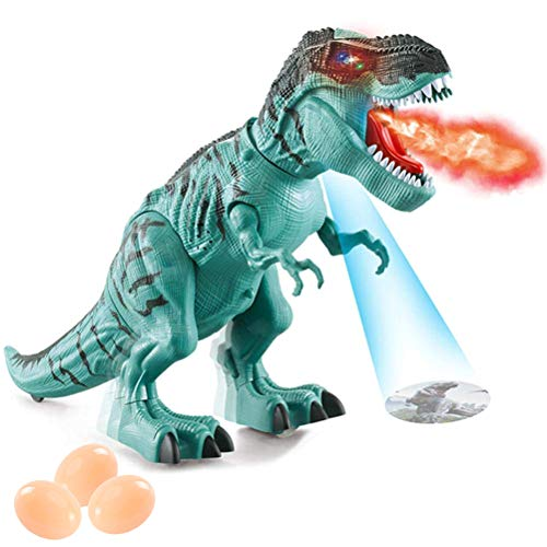 Wiivilik Electronic Walking Dinosaur with Projection Spraying Mist and Laying Eggs Action Dinosaur Toy Electronic Walking Dinosaur with Projection