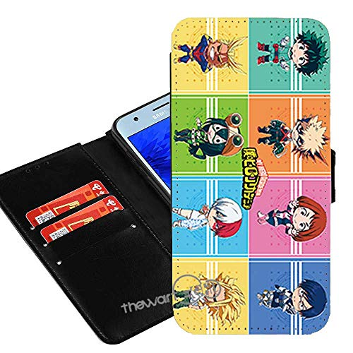 Case for Samsung Galaxy A10e, My Hero Academia Anime Manga Comic PU Leather Flip Folio Wallet Case Cover w/ID Card Slot +Thewart8 Stylus Pen (#06)