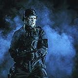 Posterazzi PSTZAB103013M Ugly Burnt face of Futuristic Nazi Soldier Wearing a Steel Helmet Photo Print, 11 x 17, Multi