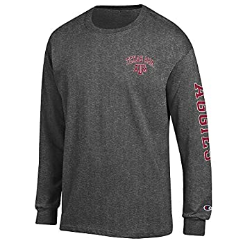 Elite Fan Shop Texas A&M Aggies Long Sleeve Tshirt Letterman Charcoal - X-Large