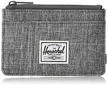 Herschel mens Oscar Rfid Zip Wallet raven crosshatch One Size US