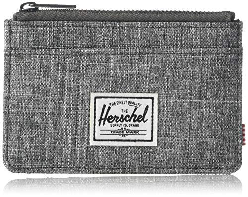 Herschel Herren Oscar RFID Geldbörse mit Reißverschluss, Rabe Kreuzschraffur, Einheitsgröße