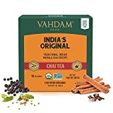VAHDAM, India's Original Masala Chai Tea Bags (30 Pyramid Tea Bags) | 100% NATURAL SPICES & NO ADDED FLAVOURING - Blended & Packed in India - Black Tea, Cardamom, Cinnamon, Black Pepper & Clove