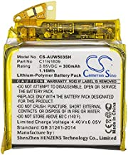CameronSino Battery for Asus ZenWatch 3, WI503Q, 0B200-02260000, C11N1609, Li-Polymer 3.85V 300mAh / 1.16Wh