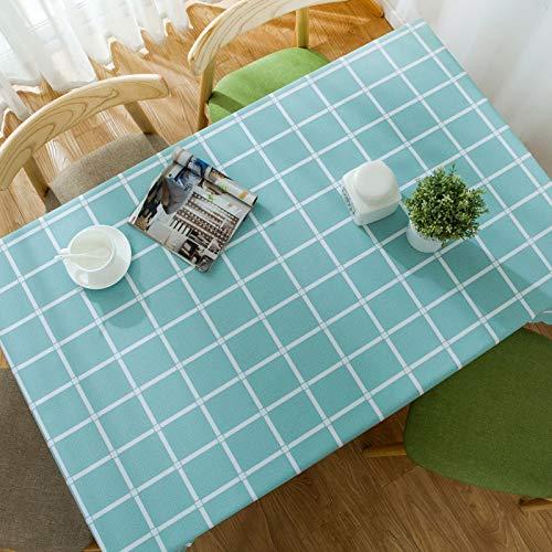 DJUX Mantel Impermeable Simple y Moderno Color Puro literario pequeño Fresco Anti-escaldado Mantel de Mesa de café desechable 90x140cm