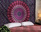 Best Queen Wall Bed - Heyrumbh Handicrafts Mandala Tapestry Wall Hanging Indian Cotton Review