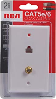 RCA Cat 5e/6 F Connector Wall Plate (TPH557R)