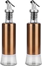 uxcell 2pcs Oil Vinegar Dispenser Bottle Salad Dressing Cruets with Pour Spout for Salad Kitchen Restaurant