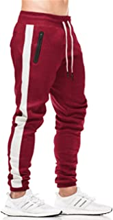 Men's Sport Pants Workout Jogger Sweatpants Stretch Slim Fit Running Pants with Pockets