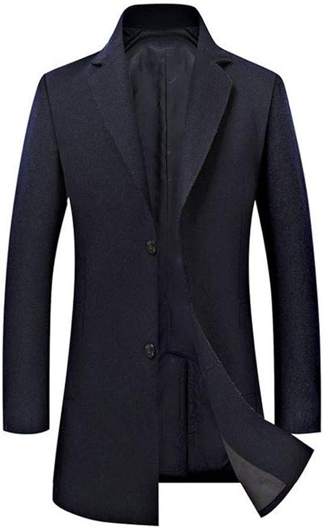 2020 Men Warm Jacket Woolen Blend Long Coat Casual Warm Business Stylish Jackets Parka Overcoat