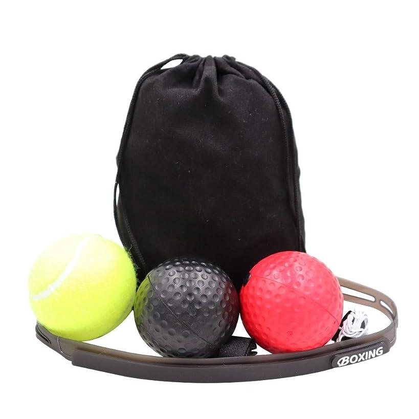 Mayunn Boxer Head-Mounted Boxing Reflex Training Ball Trainer - Speed Level Boxing Ball Set Coordination Training - 3 Balls 1 Headband