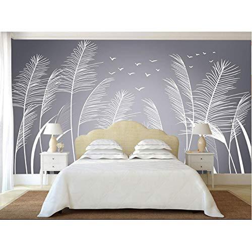 Dalxsh Home Decor 3D Wallpapers Muralen Natuur Rieten Fotobehang voor Woonkamer Slaapkamer Tv Bank Achtergrond Papier Mural 400 x 280 cm.