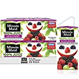 Minute Maid 100% Mixed Berry Juice, 6 fl oz Juice Box, Pack of 40