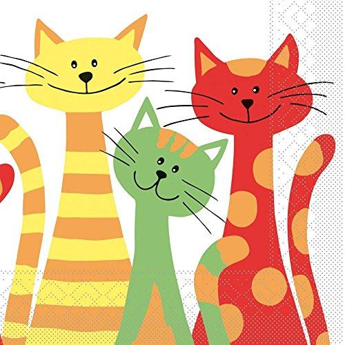 Sovie HOME Serviette Cats | Tissue 33x33 cm | saugstarke hochwertige Einweg-Servietten | ideal für Geburtstage & Feiern | 20 Stück