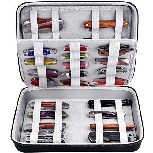 ALKOO Messertasche für Taschenmesser, Display-Aufbewahrungsbox und Trage Organisator Hält bis zu 44+ Klappmesser für Überlebens, Taktik, Outdoor, EDC-Minimesser