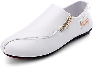 84bebec0b01 CUSTOME Hombre Zapatos Cuero Plano Ponerse Suave Moda Respirable Ocio  Ligero Cómodo Zapatos Mocasines