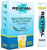 Revival, Rehidratación Rápida: Polvo de electrolitos - Potente Suplemento de Vitamina C, Bebida de Rehidratación, Tabletas Efervescentes para la Hidratación y Resaca Cura - Lima Limon 6 Paquete