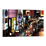 WATERINK Neon-Poster, New York Times Square,