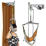 YAMEIJIA Dispositivo de tracción Cervical Puerta masajeador Cuello Kit de Instrumentos Camilla quiropráctico Ajuste Cabeza masajeador de relajación