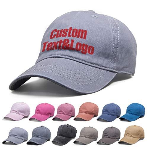 MEINAMI Una Unidad Gorra de béisbol de Lona Lavable Personalizada Sombrero Bordado Personalizado