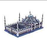 Modelo De Construcción 3D 3D Rompecabezas De Metal Mezquita Azul Modelo De Construcción Diy 3D Corte Por Láser Rompecabezas De Aprendizaje Juguetes Para Niños Regalo Para Adultos Con Luz Led