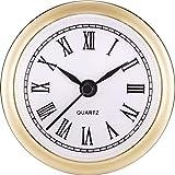 2,4 Pulgadas (61 mm) Fit-up/Inserto de Reloj de Cuarzo con Número Romano, Movimiento de Cuarzo (Borde Dorado)
