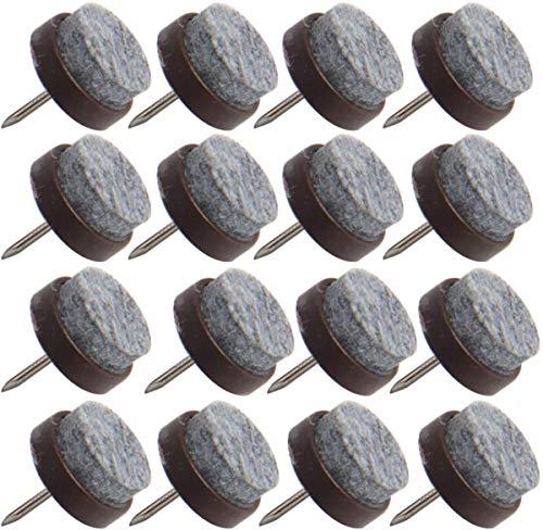 Happy Shop - Almohadillas de fieltro para muebles (50 unidades, antideslizantes, para colocar en el suelo, para sillas de madera, taburetes, mesas y patas de 0,78 pulgadas, color marrón)