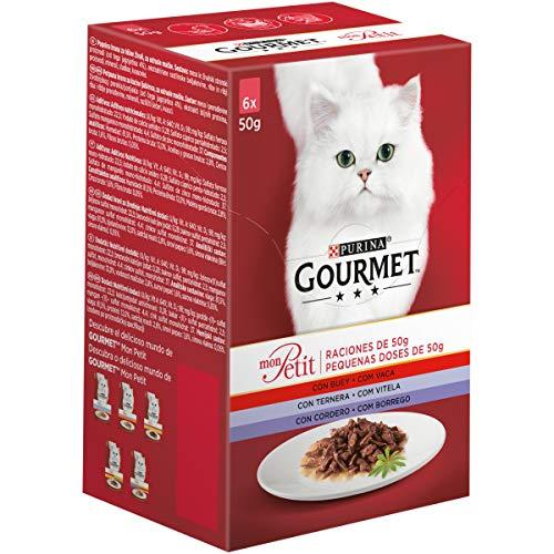 Purina Gourmet Mon Petit comida para gatos Carnes 6 x 50 g