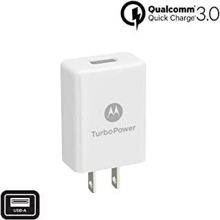 Motorola TurboPower 15w QC3.0 Fast Wall Charger with 3in1 USB Micro,C TYPE,8Pin Universal Fast Charger Kit