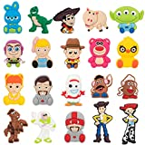 CY2SIDE 20PCS Toy 4th Shoe Charm for Kids, Cartoon Decoration Charm for Shoes, Bracelet Wristband Charm for Toddlers, Toy Clog Decor for Kids Slip-on, Toy Birthday Party Supplies, Woody Charm for Boys
