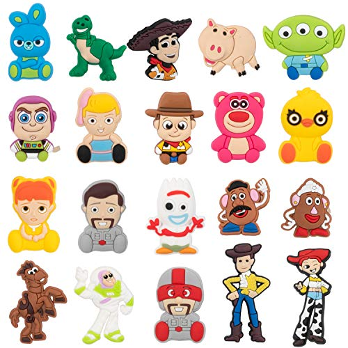 CY2SIDE 20PCS Toy 4th Shoe Charm for Kids  Cartoon Decoration Charm for Shoes  Bracelet Wristband Charm for Toddlers  Toy Clog Decor for Kids Slip-on  Toy Birthday Party Supplies  Woody Charm for Boys
